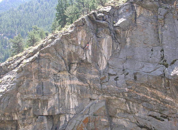 The River Wall climb in Clear Creek canyon