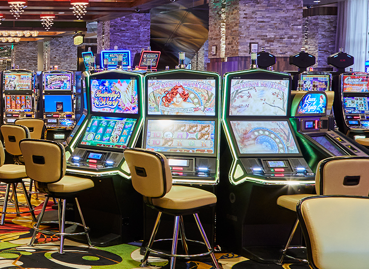 3-D Slot machines on the casino floor